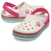 Crocs Crocband Sequin Band Clog baby pink - Girls RARE Size UK 4.