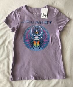 CHASER Brand JOURNEY Graphic Concert Gauzy Cotton Tee Shirt