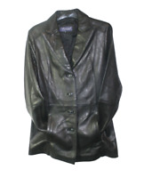 Women's soft genuine lamb leather four buttons closure fashion jacket New