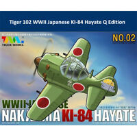 Tiger 102 WWII Japanese Nakajima KI-84 Hayate Fighter Cute Series Assembly Model