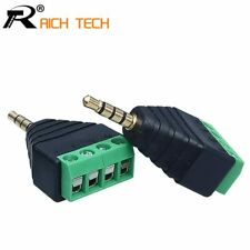 3PCS Video AV Balun 3.5mm 4 Pole Stereo Male to AV Screw Terminal Stereo Jack…