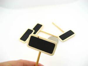 15pcs 4cm*2cm mini blackboard with stick Plant Labels Marker meal burger tag