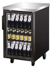 "Commercial Back Bar Cooler 24"" Glass Door"