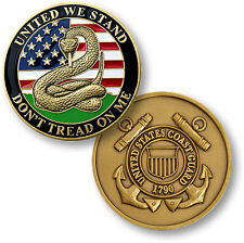 "NEW U.S. Coast Guard ""Don't Tread On Me"" Challenge Coin. 60489."