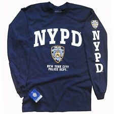 NYPD T-SHIRT, Officially Licensed Crewneck Long-Sleeve Athletic Tee