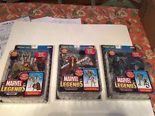 Lot of 3 Marvel legends Onslaught wave Green Goblin Lady Deathstrike Loki Toybiz