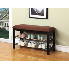 Shoe Rack Storage Organizer Hall Way Bench Display Wood Furniture Cubby Seat New