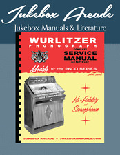 Wurlitzer 2600 Series Service and Parts Manual w/ Troubleshooting New!