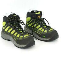 CAT Footwear Women's 6.5 Streamline Mid Composite Toe P90504 Black Green Lace Up