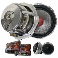 "(Pair) Massive Audio High Fidelity Carbon 6 Component 6.5"" inch Speakers"