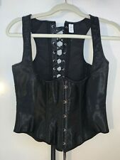 Women Sexy Overbust Corset Bustier Black Gothic Sexy Large
