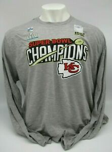 Kansas City Chiefs Grey Super Bowl LIV Champions Trophy Collection  Long Sleeve