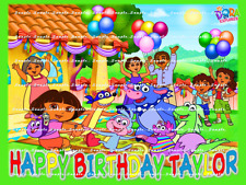 DORA THE EXPLORER: Personalized Edible Cake Topper FREE SHIPPING in Canada
