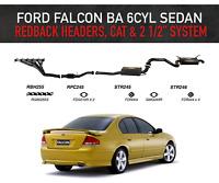 """Ford Falcon BA 6cyl Sedan - Redback Headers, High Flow Cat & 2 1/2"""" System"""