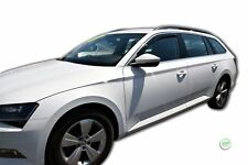 SKODA SUPERB mk3 2015-up SET OF FRONT WIND DEFLECTORS HEKO TINTED 2pc