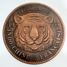 1955 Tiger Indo-Chine Francaise Commemorative Coin Token