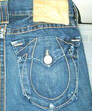 *HOT AUTHENTIC Men's TRUE RELIGION @ JOEY BIG T FLARE BOOTCUT DARK Jeans 31 x 33