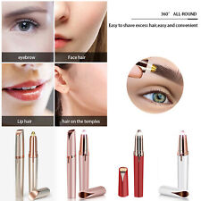 Womens Lipstick Facial Shaver Eyebrow Hair Remover Painless Battery Trimmer Tool