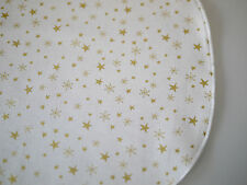 Christmas Placemat, doily, Place Mats, Placemat Stars, Cream Gold