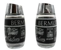Bermuda Souvenir Set Salt & Pepper Shakers Tableware Vintage Glass