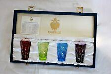 """Faberge """"Na Zdorovie"""" Bubble Vodka Shot Glasses- Set of 4 in original box"""