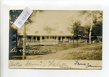 Webster MA Mass RPPC real photo Bates Grove, Point Breeze, pavilion? people 1905