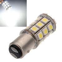 2X 1157 BAY15D P21/5W 27SMD 5050 Car 12V LED Tail Brake White Light Bulb Lamp
