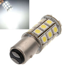 2X 1157 White BAY15D P21/5W 27SMD 5050 Car 12V LED Tail Brake Light Bulb Lamp hs