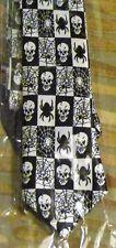 Halloween skull tie-nouveauté spider cravate-fancy dress-web-gothique-halloween