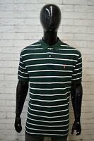 Polo a Righe Uomo Maglia RALPH LAUREN Taglia ( XL )  XXL Shirt Man Polo shirt