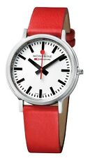 Mondaine Stop2go Mens Red Leather Fashion Watch A5123035816SBC