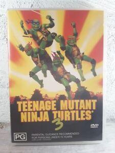 Teenage Mutant Ninja Turtles 3 Three DVD - TMNT 1993 Movie - REGION 4 AUSTRALIA