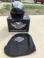 Harley Davidson 3/4 Helmet Black Face Shield Sun Shield Tinted Large