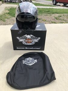 Harley Davidson 3/4 Helmet Black Face Shield Sun Shield Tinted Large