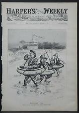 Harper's Weekly Cover-Page A4#34 Aug. 1895 Populist Pond