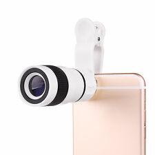 Lente Cámara Teleobjetivo Clip-on 8x Zoom Óptico Para Teléfono