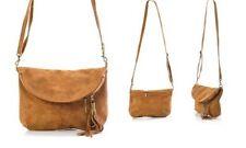 100% Genuine Leather Handbag Carla Belotti Juliette Camel RRP: €99