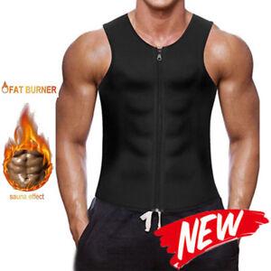 Gym Men's Neoprene Vest Slim Sport Fitness Body Shaper Shirt Sauna Sweat TOPS AU