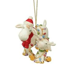 Lenox 2019 Marcel The Moose Marcie And Baby Marcel Moose Christmas Ornament Nib