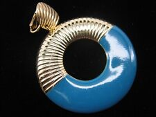 Tancer & Two Yale Blue + Silver-Tone Door-Knocker Clip-On Earrings // B1-K-30