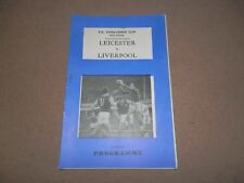 Leicester vs. Liverpool FC programme 1 March 1969 Postponed FA Cup 5th Round