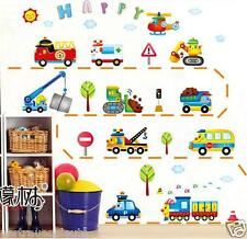 Wandtattoo Fahrzeug Lastkraftwagen Bagger Wandaufkleber Kinderzimmer WandSticker