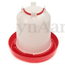 3 Liter Red Plastic Chicken Chicks Hen Poultry Drinker Drinkin Waterer w/ Handle