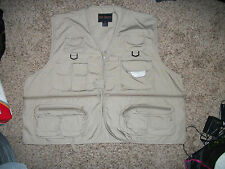 Men's Rio Bravo Beige Fly Fishing Vest Size XXL Great Shape!