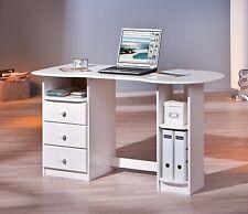 *Touchround / Rollconatiner Container Büro Kiefer m. 3 Schubladen Weiß lackiert