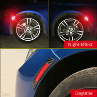 2pcs Universal Car Door Edge Guard Reflective Sticker Tape Decal Safety Warning