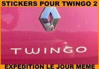 Renault Twingo 2 Autocollant Stickers Coffre Boot Monogramme - Dimension Origine