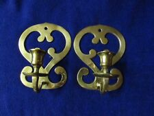 Beautiful pair of brass candle sconces