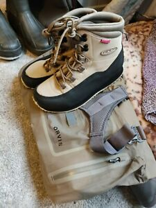 Orvis Silver Sonic Breathable Chest Waders  + Vision Hopper 2 Wading boots Sz 10