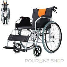 LIGERA Silla de ruedas aluminio manual plegable y autopropulsable para anciano